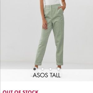 ASOS DESIGN Tall tapered cord suit pants